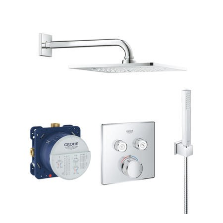Grohe SmartControl Handheld and Head Shower Set