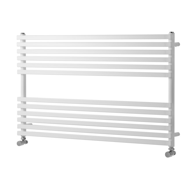 Oxfordshire White Single Panel Horizontal Radiator - 600 x 1000mm