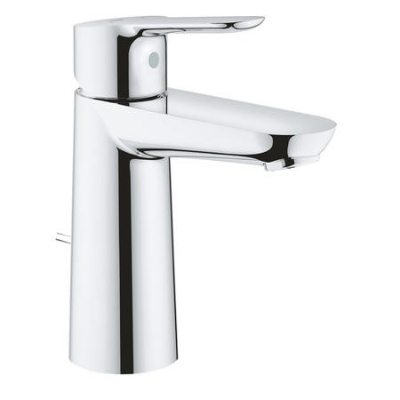 Grohe BauEdge Mono Basin Mixer Tap with Pop-up Waste - 23758000