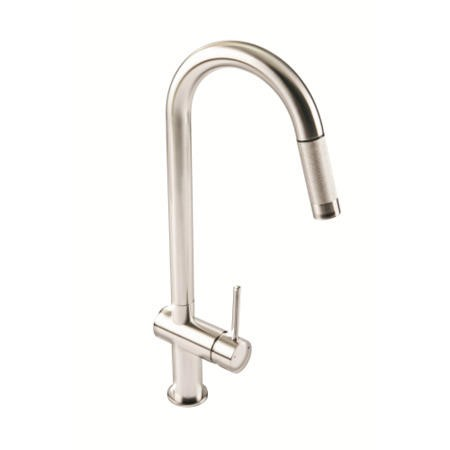 1810 Sink Company GRA/02/BS Grande Single Lever Pull Out Aerated Mixer Tap Brushed Steel