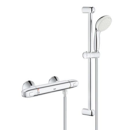 GRADE A1 - Grohe Grohtherm 1000 New Thermostatic Shower Mixer and Kit - 34557001