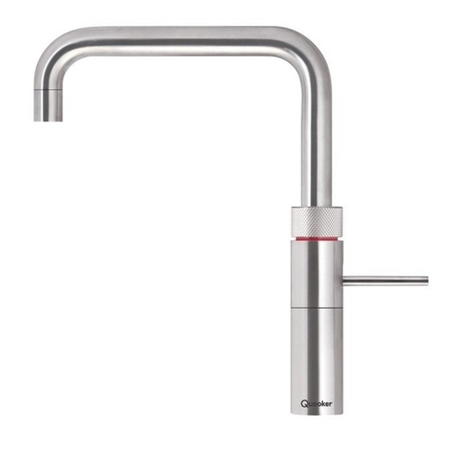 Quooker Chrome Single Lever 3 in 1 Water Kitchen Tap - Fusion