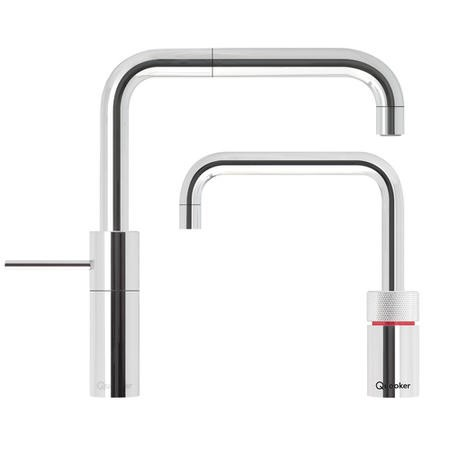 Quooker 3NSCHRTT PRO3 Nordic Square Twin Taps Boiling Water & Mixer Tap in Chrome
