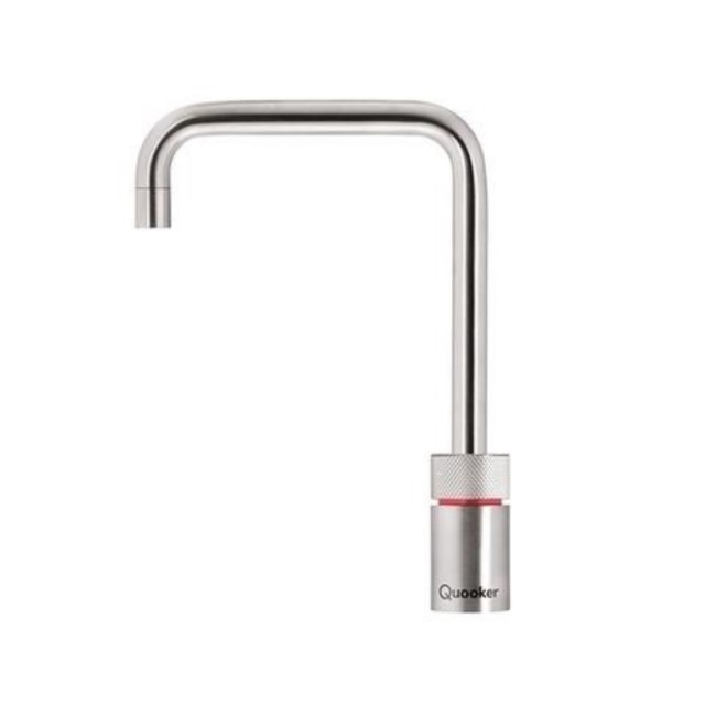 Quooker Nordic Square Stainless Steel Instant Boiling Water Kitchen Tap