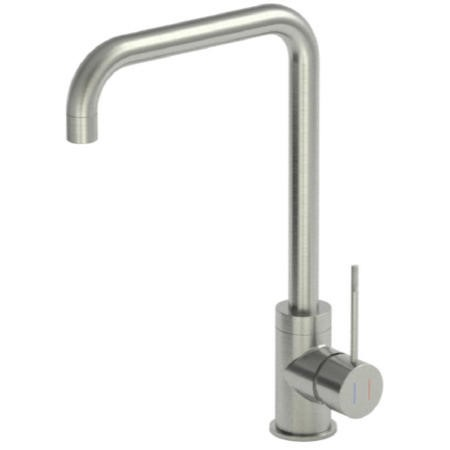 Reginox ANGEL-BRN Single Lever Brushed Steel Monobloc Tap