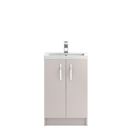 Cashmere Free Standing Bathroom Vanity Unit & Basin - W505 x H850mm