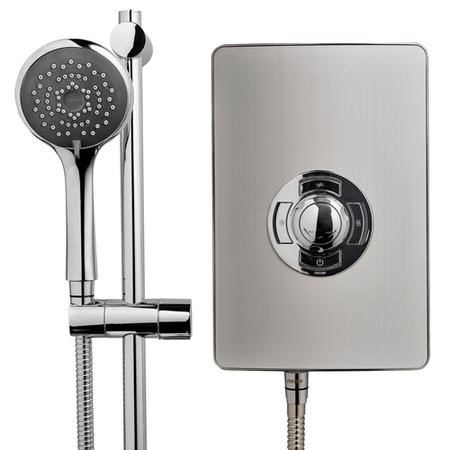 Triton Aspirante 8.5kw Electric Shower - Brushed Steel