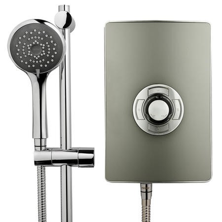 GRADE A1 - Triton Aspirante 9.5kw Electric Shower - Gun Metal