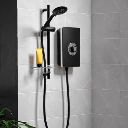 GRADE A1 - Triton Aspirante 9.5kw Electric Shower - Matte Black