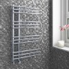 Chrome Bathroom Towel Radiator - 900 x 500mm