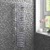 GRADE A1 - Chrome Bathroom Towel Radiator - 1200 x 320mm