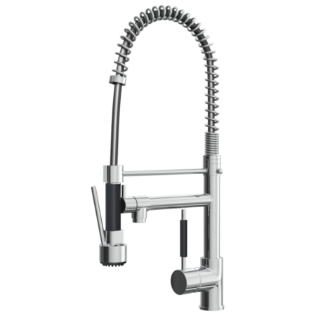 Reginox Chrome & Black Kitchen Pull Out Spray Tap
