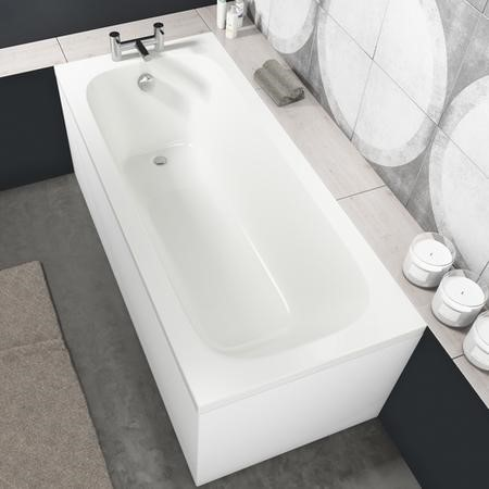 Sochi Round Style Single Ended Straight Standard Bath - 1600 x 700mm