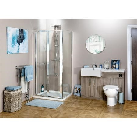 Claritas 6 Glass Bi-Fold Folding Shower Door - 700mm