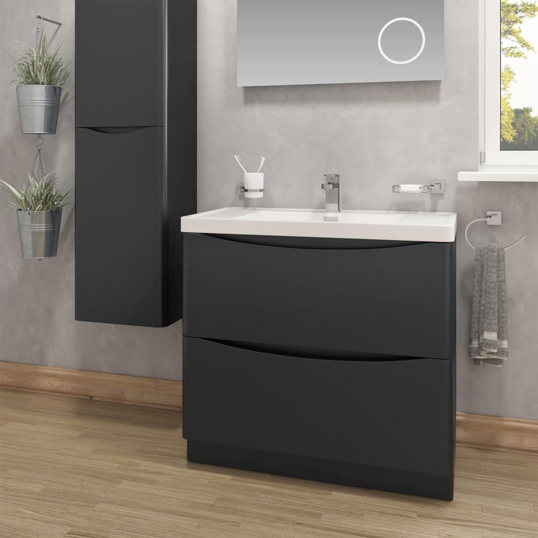 Black Free Standing Bathroom Vanity