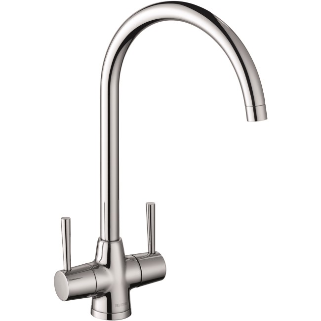 Blanco Chrome Twin Lever Max Kitchen Tap
