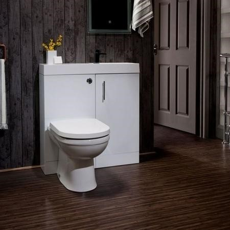 White Cloakroom Suite with Delta Toilet
