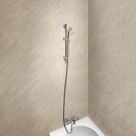Peru Deluxe Wall Mounted Bath Shower Mixer with Rina Rail Kit