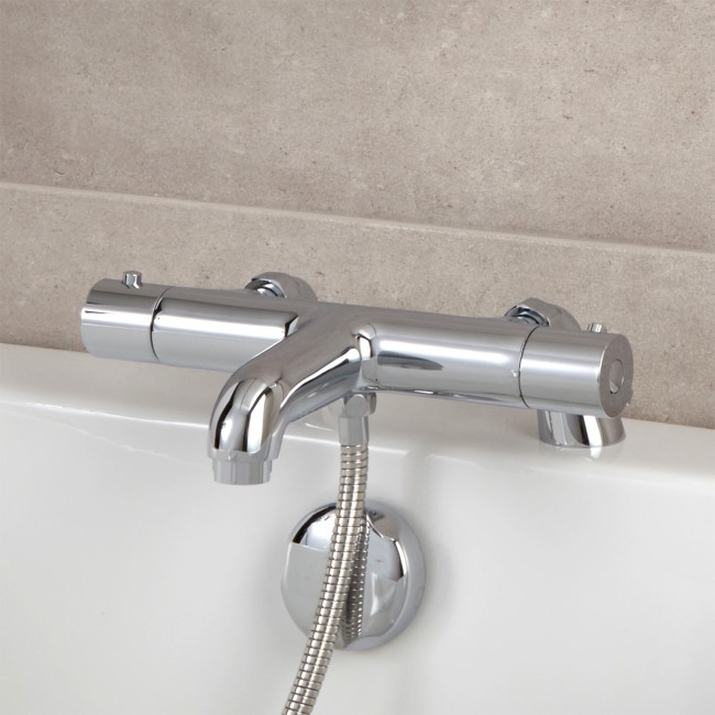 Thermostatic Deck Mounted Bath Shower Mixer - Focus Range