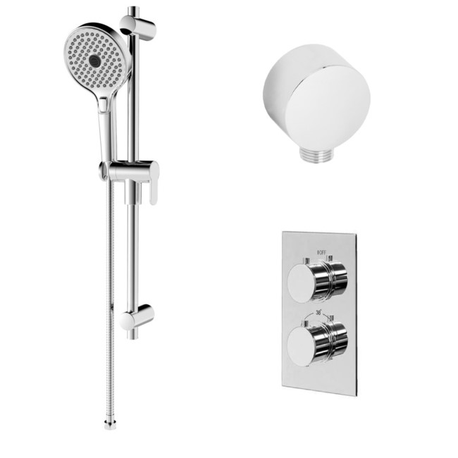 EcoS9 Thermostatic Dual Shower Valve with Rina Slide Rail Kit