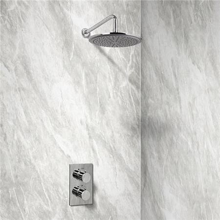 EcoS9 Dual Valve with Chromed Morgen 10 Inch Shower Head