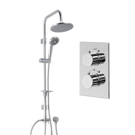 Dualex Riser Slide Shower Rail Kit with EcoS9 Dual Valve & Wall Outlet