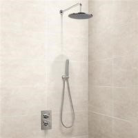 EcoStyle Dual Valve with Handset 250mm Shower Head Wall Arm & Outlet Elbow