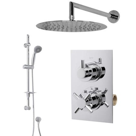Complete Shower Pack - Slide Rail Kit Valve & 300mm Shower Head