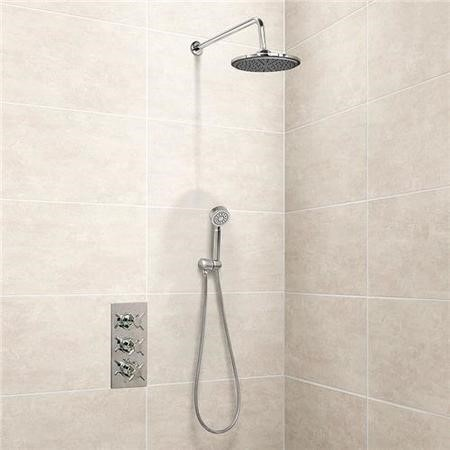 EcoStyle Triple Control Shower Valve with Diverter, Handset and Head
