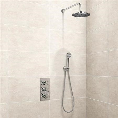 EcoStyle Triple Control Shower Valve with Diverter with Overflow and Handset