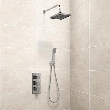 EcoCube Triple Control Shower Valve with Handset and Head