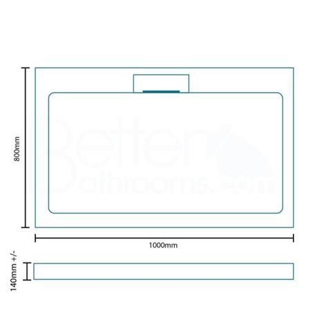 Elusive Easiplumb 1000 x 800 Rectangular Shower Tray with Waste