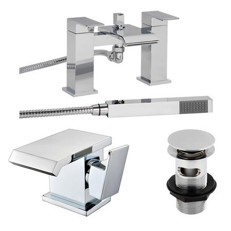 Aqua Waterfall Tap Pack with Basin Waste