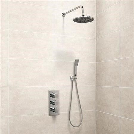 EcoS9 Triple Control Shower Valve with Handset and Head
