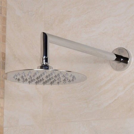 UltraThin Designer Round 200mm Shower Head & Wall Arm