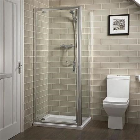 900 x 800 Pivot Shower Enclosure - Aqualine