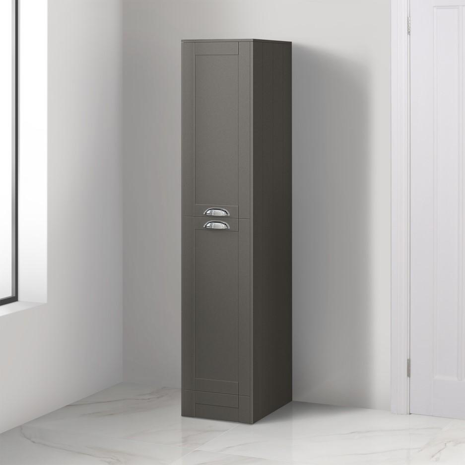 1400mm Floor Standing Storage Unit Grey Tall Boy Unit