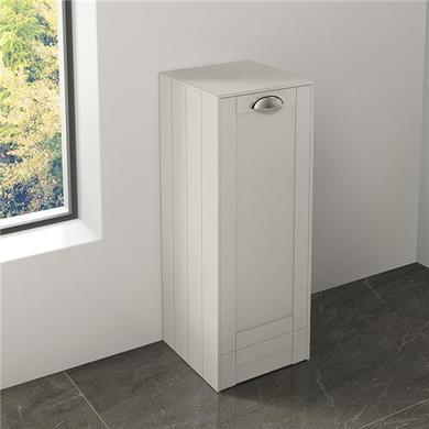 White Single Door Storage Unit- Traditional Handle - Nottingham Range