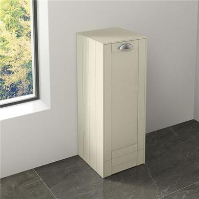 300mm Floor standing Storage Unit - Ivory Single Door Unit Traditional Handle - Nottingham Range