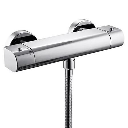 Vitalia Exposed Dual Function Thermostatic Shower Valve with Chenai Riser Rail Kit