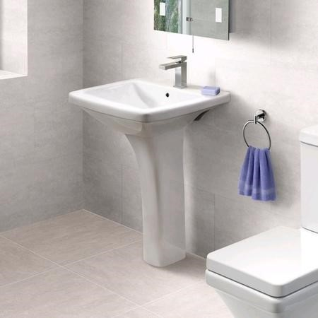 Basin and Full Pedestal - 1 Tap Hole - Modern - Montana