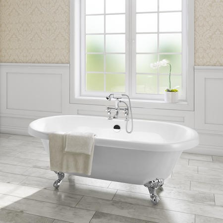 Park Royal Traditional Double Ended Roll Top Freestanding Bath - 1800 x 785mm