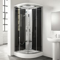 900 x 900mm Quadrant Steam Shower Cabin with 6 Body Jets
