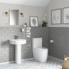 Newport Rimless Toilet and Basin Suite