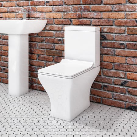 Austin Short Projection Toilet with Slim Soft Close Seat