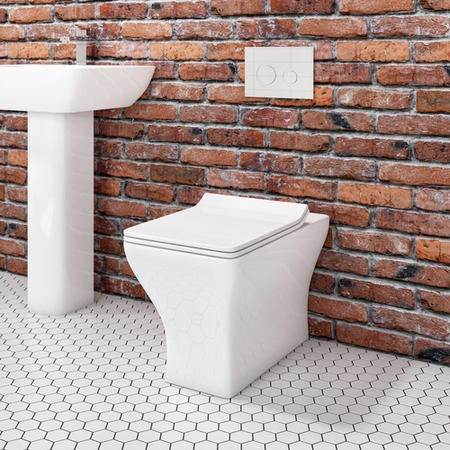 Austin Back to Wall Toilet with Slim Soft Close Seat