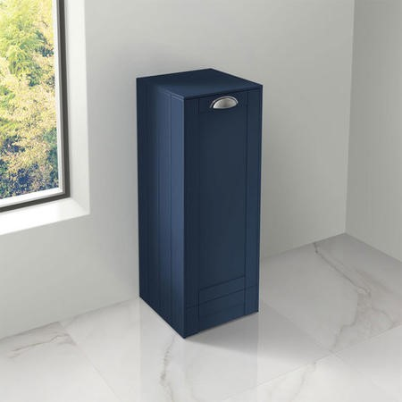 300mm Floor Standing Storage Unit - Indigo Blue Single Door Traditional Handle - Nottingham Range