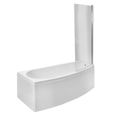 Brooklyn 1690 x 690 Spacesaver Left Hand Bath with Front Panel