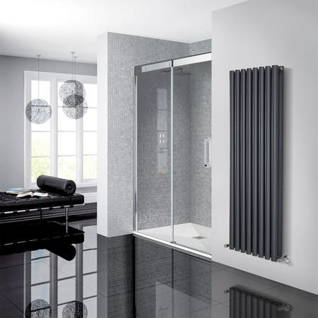 Neptune 1200 Smoked Glass Sliding Door Left Hand