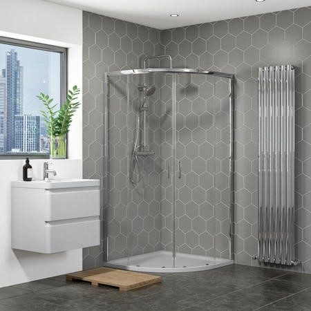 800mm Quadrant Shower Enclosure with Shower Tray - Vega